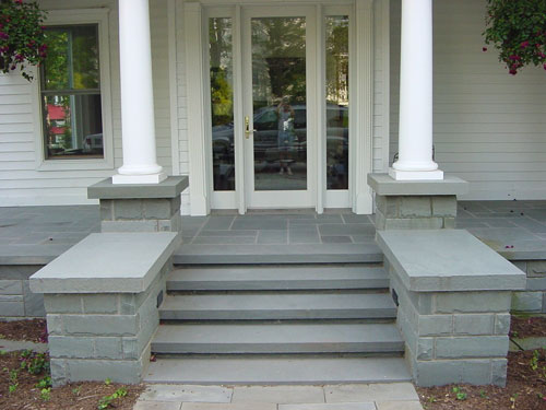 Northeast stone works installed product gallery for Bluestone porch